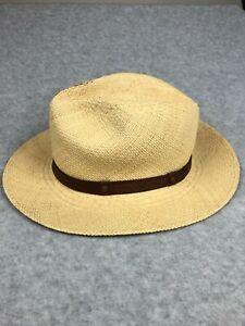 Col Littleton Genuine Panama Hat Straw Medium Hand Khaki Stash (MINOR DAMAGED)