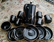 Fantastico VINTAGE Gibsons POTTERY Inglese lustro Ware GOLD GILDED coffee set