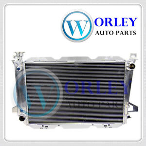 3 ROW Aluminum Radiator for Ford F100 F150 F250 F350 Bronco V8 1983-1997 AT/MT