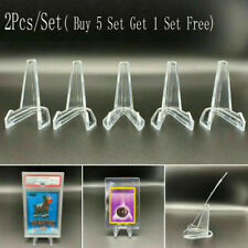 2Pcs/Set Card Stand Graded Card Display Stand Coin Small Box Paper Clip Holders