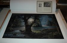 Jesse Barnes EVENING ASCENT S/N paper Deer art print MINT w/COA Painter of Light