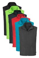 Mens RED GREEN BLUE GREY Breathable Lightweight Full Zip Micro Fleece Vest Gilet