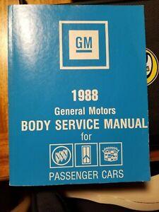 1988 GENERAL MOTORS PASSENGER GM CARS FISHER BODY SERVICE MANUAL BOOK DIAGRAMS