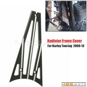 Black Radiator Grill Protector Cover For Harley Touring SElectra Glide CVO 09-13