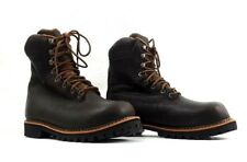 """Georgia Boots Steel Toe Sz 9.5 M Men's Insulated 8"""" Work Boots G8364 Brown Disc."""