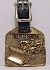 Michigan Tractor Shovel Wheel Loader Pocket Watch Fob Chadwick BaRoss Inc Maine