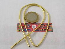 1 filo canutiglia dorata media di 1,2 mm foro interno 0,9 mm circa lungo 40 cm