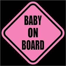 "BABY ON BOARD Vinyl Decal/Sticker Pink 5.5""H"