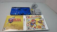 NINTENDO 3DS XL Video Game Console Pokemon X Y BLUE & 2 games mario,zelda
