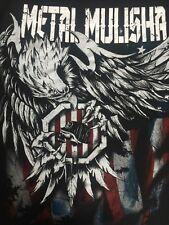 ORG.Metal Mulisha Bald Eagle Punk German Helmet Mens Skate BMX Hip Hop T-shirt M
