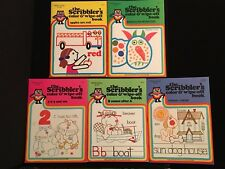 The Scribblers LOT of 5 Vintage Color & Wipe-Off Preschool Books 1979, 1981 NEW