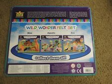 T135) 2010 Wild Republic Wild Wonder Felt Playsets - Zoo, Dinosaurs, Ocean Sets