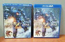 Pacific Rim  (3 D Blu-ray+Blu-ray+DVD+Digital) Lenticular Slipcover  LIKE NEW
