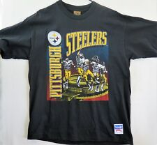 Vintage Nutmeg USA Made NFL Men s 90 s XL Pittsburgh Steelers T Shirt ... d4f80ff0d