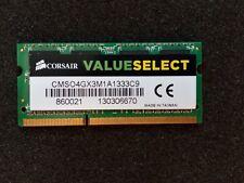 4GB CORSAIR CMSO4GX3M1A1333C9 DDR3 1333MHz So-Dimm 204pin Laptop Memory