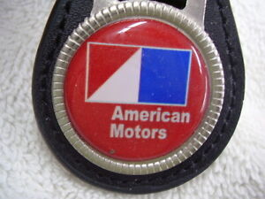 AMC AMERICAN MOTORS   KEY CHAIN   LEATHER FOB