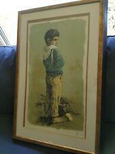 WILLIAM WEINTRAUB 1926 AMERICAN, ISRAEL PORTRAIT OF A PEASANT BOY