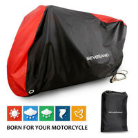 NEVERLAND XXL Large Motorcycle Cover Waterproof Outdoor Dust Rain Protection Red