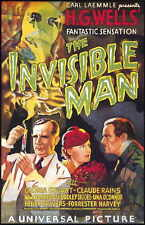 THE INVISIBLE MAN Movie POSTER 11x17 B Claude Rains Gloria Stuart Dudley Digges