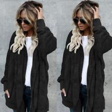 Fashion Women Cardigan Fur Jacket Outerwear Tops Winter Warm Sweater Fluffy Coat