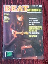 BEAT INSTRUMENTAL MAGAZINE- #134 -DEC 1977- WILKO JOHNSON - WISHBONE ASH