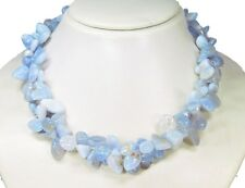 Gorgeous precious stone necklace in chalcedony-stones in Forum L-42 cm