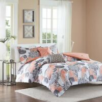 Intelligent Design ID10-731 Marie Comforter Set Twin XL Coral, Twin/Twin X-Large