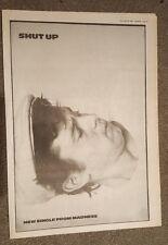 Madness Shut up 1981 press advert Full page 28 x 39 cm mini poster