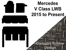 Mercedes V-Class LWB (2015 to DATE) Fully Tailored 3mm Rubber Van Floor Mats