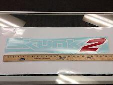 "Skunk2 23"" vinyl sticker decal WHITE skunk 2 racing honda jdm windshield banner"
