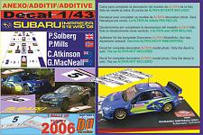 ANEXO DECAL 1/43 SUBARU IMPREZA SOLBERG & ATKINSON R.TURKEY 2006 13rd & 6th (01)