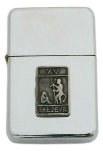 The Devil Tarot Card Petrol Lighter Windproof with Free Engraving Gift 506