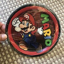 "Super Mario 8 count 7"" diameter disposable party plates - NIP discountinued"