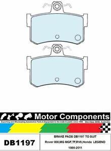 BRAKE PADS DB1197 TO SUIT Rover ,MG MGF,TF,RV8,Honda  LEGEND 1986-2011