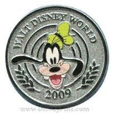 Disney Pin: WDW Character Coins Mystery Pin Collection - 5 Pin Set Chip Only