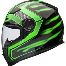 Shox Sniper Skar Motorcycle Helmet S Green
