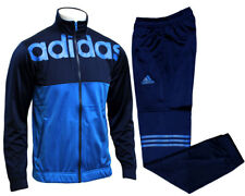 adidas linear Herren-trainingsanzug Anzug Satz blau M