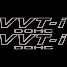 2x Silver Toyota VVT-I DOHC Stickers Vinyl Decals VVTI Supra JDM Celica TRD