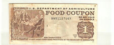 U.S. Department of Agriculture Food Coupon $1 B85112746Y