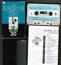 THE KINGSTON TRIO Best Hits 20 JAPAN CASSETTE Picture Sip Case+Insert TEICHIKU