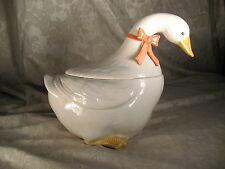 Vintage Otagiri Goose with Bowtie Cookie Jar Ceramic