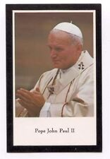 Prayer for Pope John Paul II Black Border Remembrance Holy Card - 2005