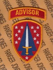 US Army 1st Security Force Assistant Brigade SFAB w/ Advisor tab patch set