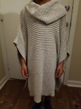Womens The Limited Cowl Neck Poncho Sweater Grey Sz M/L NWT MSRP $ 89.95