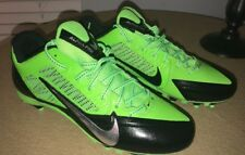 NIKE Alpha Pro Mid 3/4 D Sz 12 FLYWIRE Football Shoes BLACK/Yellow MSRP: $110