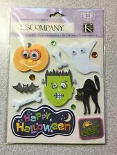 KP Halloween Glitter Words Die Cut Double Sided K/&Company  Stickers