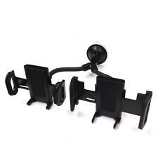 Quality Car Holder for Phone and Satnav Dual Two Devices Windscreen Mount