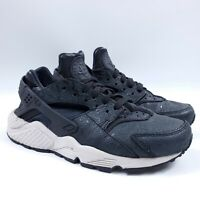 Women's Nike Air Huarache Run PRM Size 7.5 683818-010 Black Light Bone