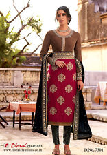Indian Pakistani Designer Salwar Kameez Original Floral Creations 7301