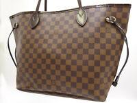 Auth LOUIS VUITTON Neverfull MM Damier Ebene Tote Bag Shoulder Bag N51105 V-1591